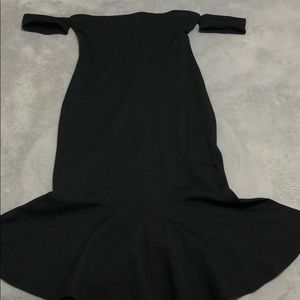 Spanish style off the shoulder knee length dress
